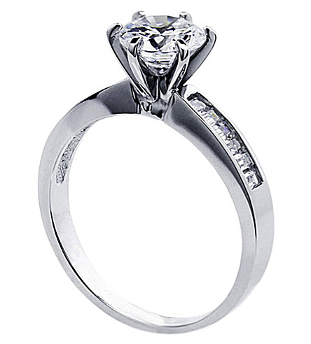 CARAT Channel Round 1ct solitaire ring (White