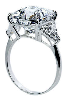 CARAT Cushion 6.5ct trilogy cocktail ring