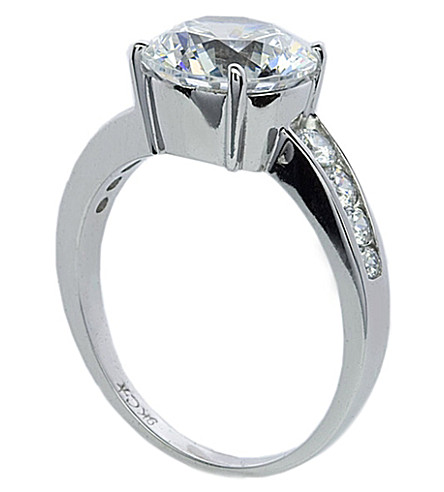 CARAT LONDON Round Brilliant 2.5ct solitaire ring (White