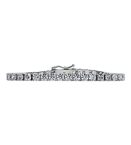 CARAT LONDON 9.5ct Round Brilliant Tennis bracelet (White