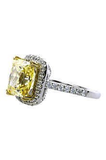 CARAT 4ct yellow princess ring