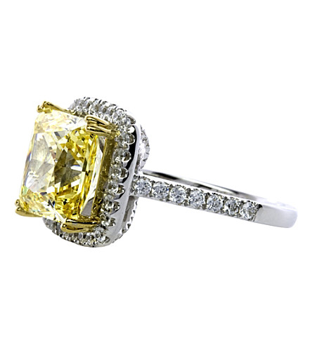 CARAT LONDON Yellow Princess 4ct borderset ring (Yellow