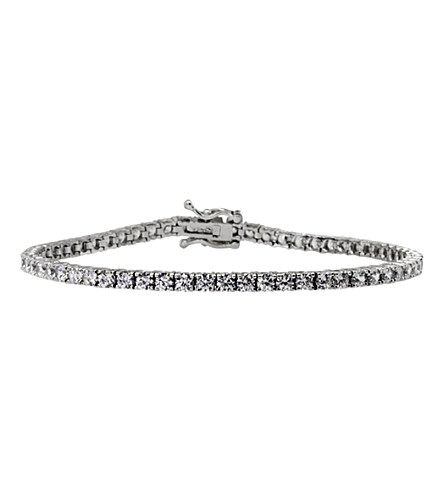 CARAT LONDON 3.05ct Round Brilliant Tennis bracelet (White
