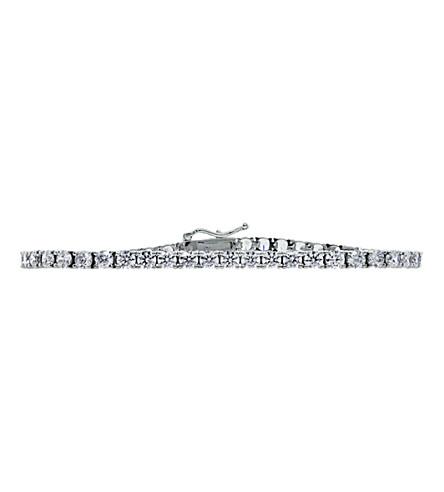 CARAT LONDON 5ct Round Brilliant Tennis bracelet (White