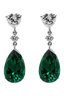 CARAT 5.5ct Lilium fancy green pear drop earrings