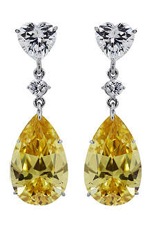 CARAT 5.5ct Lilium fancy yellow pear drop earrings