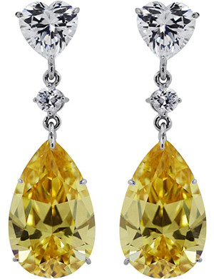 CARAT Canary yellow pear drop earrings