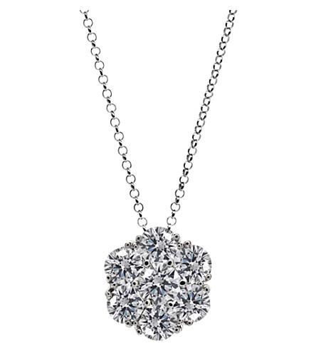 CARAT LONDON Flower 0.25ct solitaire necklace
