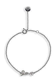 CARAT Chelsea love white gold finish bracelet