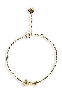 CARAT Chelsea love yellow gold finish bracelet