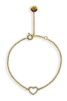 CARAT Chelsea hollow heart yellow gold finish bracelet