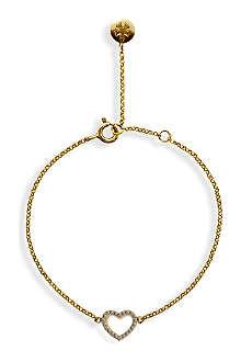 CARAT Chelsea hollow heart yellow gold finish bracelet