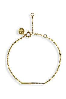 CARAT Chelsea bar yellow gold finish bracelet