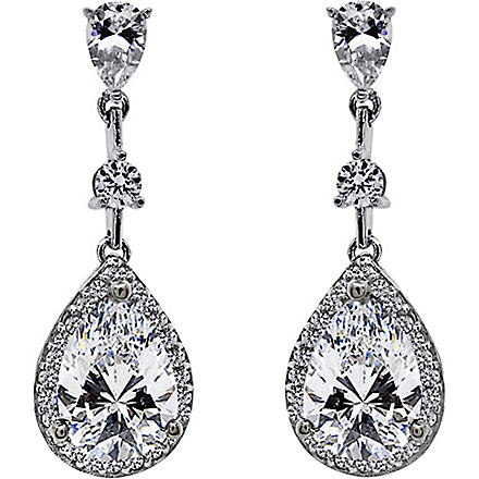 CARAT Baptisia 2.75ct pear drop earrings (White