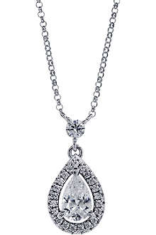 CARAT Pear 1ct border set drop pendant
