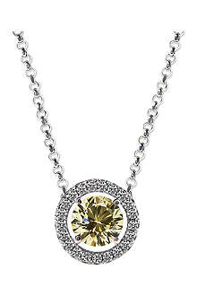 CARAT Round 1.25ct yellow border set pendant