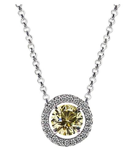 CARAT LONDON Round 1.25ct Yellow Borderset pendant necklace (Yellow