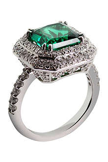 CARAT Princess 3ct green border set ring