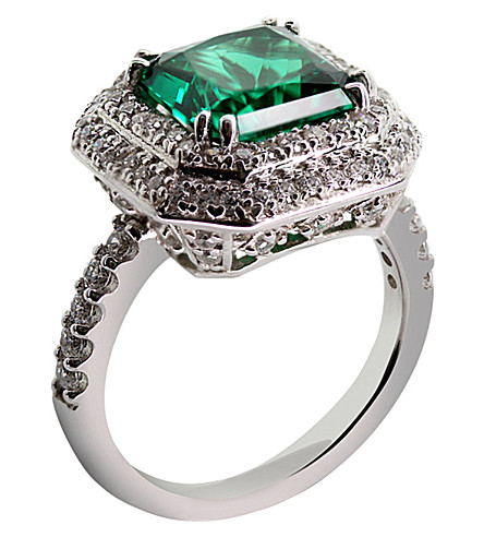 CARAT LONDON Princess 3ct green borderset ring (Green