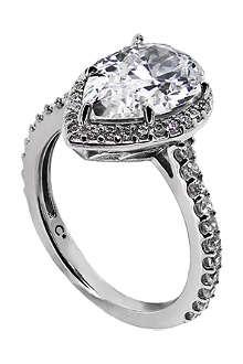 CARAT Pear 9-karat gold ring