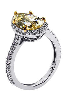 CARAT Pear 9-karat gold ring