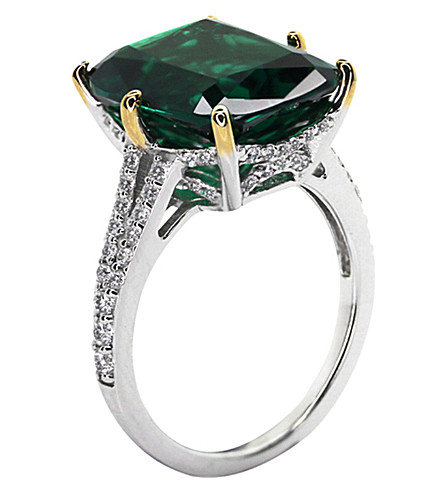 CARAT LONDON Grand Canary 8ct cocktail ring (Green