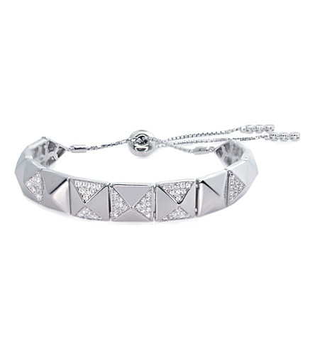 CARAT LONDON Bermuda Jackson white gold-plated and diamanté bracelet