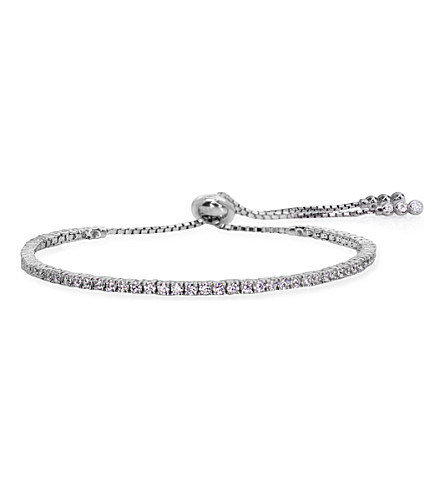 CARAT LONDON Lexi Millennium sterling silver and crystal gemstone bracelet