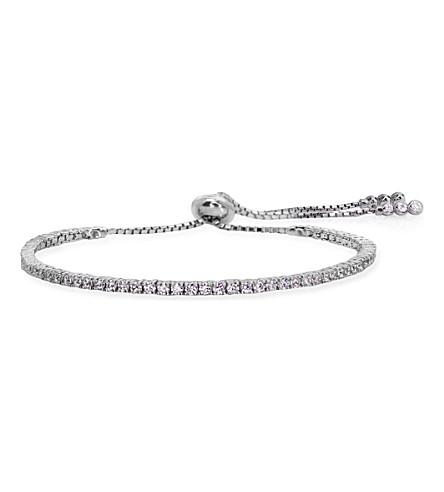 CARAT LONDON Lexi Millennium sterling silver and crystal gemstone bracelet
