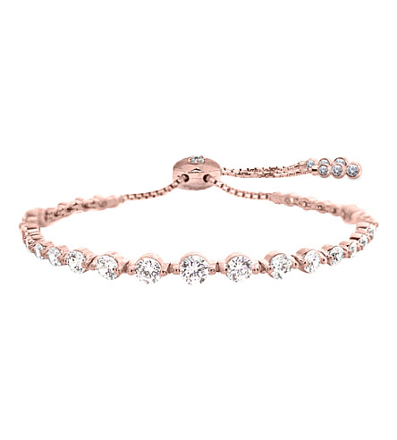 CARAT LONDON Grace Millennium rose gold and solitaire bracelet