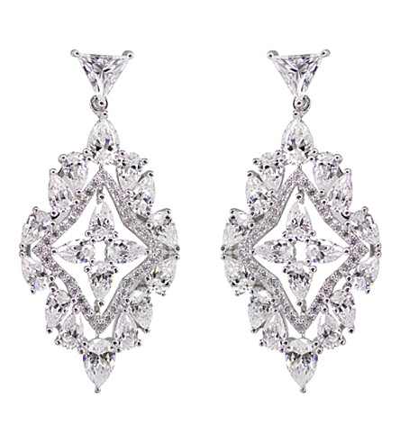 CARAT LONDON Antoinette solitaire chandelier earrings