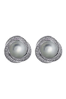 CARAT Power faux-pearl grey earrings