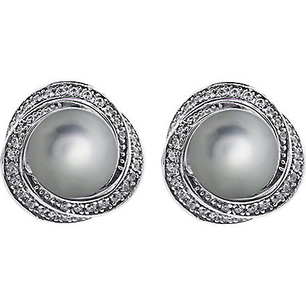 CARAT Power faux-pearl grey earrings (Green