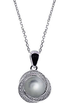 CARAT Power faux-pearl grey pendant