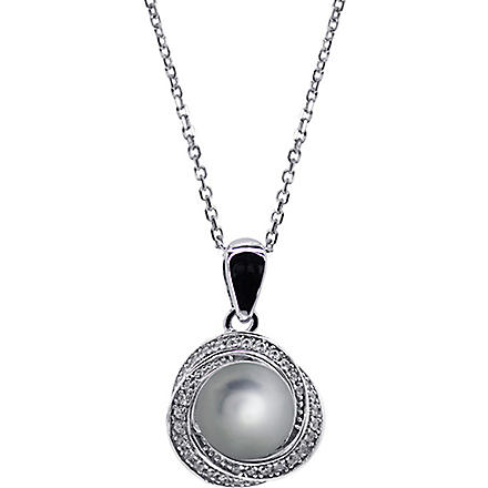CARAT Power faux-pearl grey pendant (Green