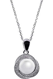 CARAT Power faux-pearl white pendant