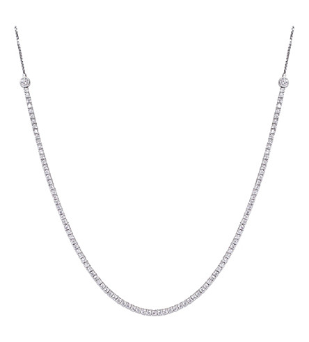 CARAT LONDON Lexi white-gold and gemstone necklace (Silver