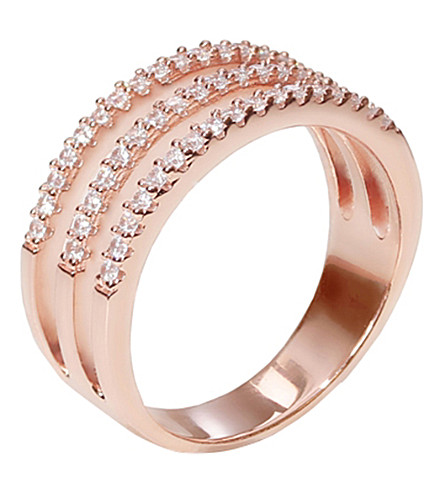 CARAT LONDON Gunner in rose gold vermeil ring