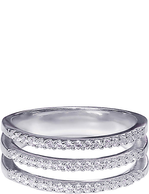 CARAT LONDON Gunner sterling silver and diamond ring