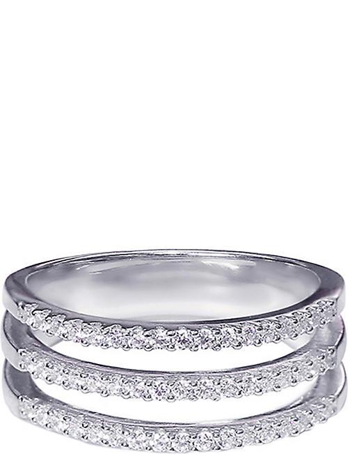 CARAT LONDON Gunner sterling silver and diamond ring