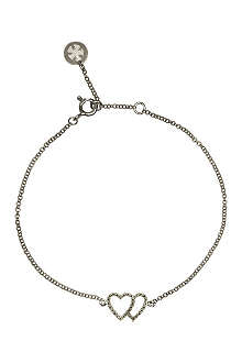 CARAT Chelsea Twin Hearts white gold bracelet