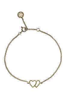 CARAT Chelsea Twin Hearts yellow gold bracelet