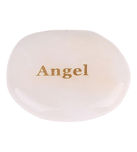 PSYCHIC SISTERS Angel white jade palm stone