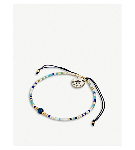 PSYCHIC SISTERS Chakra silk, gold-plated and gemstone bracelet