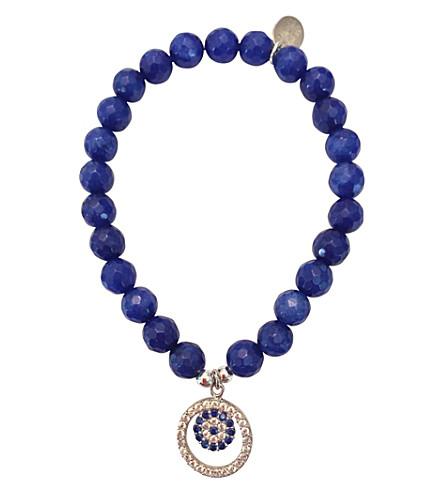 PSYCHIC SISTERS Evil eye 925 silver and jade bracelet