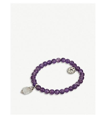 PSYCHIC SISTERS赫基默钻石和紫水晶手链