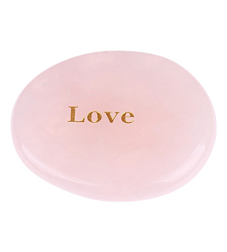 PSYCHIC SISTERS Love rose quartz palm stone