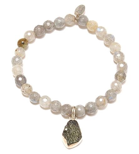 PSYCHIC SISTERS Moldavite and labradorite crystal bracelet