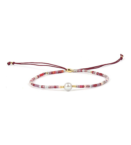 PSYCHIC SISTERS Power silk, gold-plated and gemstone bracelet