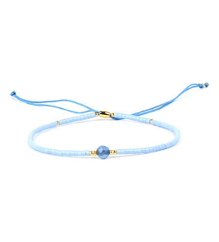 PSYCHIC SISTERS Wishes silk, gold-plated and gemstone bracelet